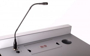 Podium with Microphone Point and Light Switch
